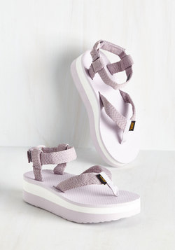 I Wanna Walk With You Sandal in Lavender