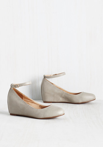 Take a Stride With Me Wedge in Pebble $49.99 AT vintagedancer.com
