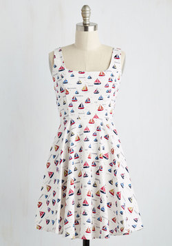 Very Charming Dress in Sailboats