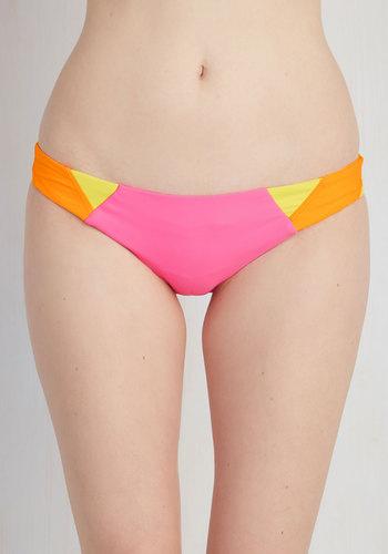 Neon a Winning Streak Swimsuit Bottom - Pink, Solid, Beach/Resort, Luxe, Quirky, Colorblocking, Spring, Summer, Best