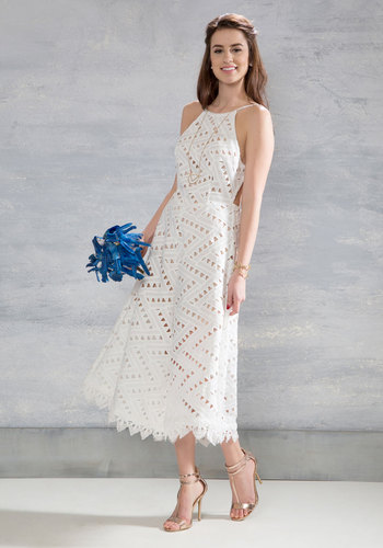 Be-All East End-All Dress in White