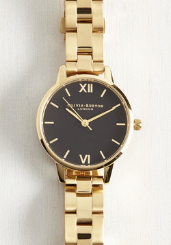 Teacup and Running Watch in Gold & Black - Midi