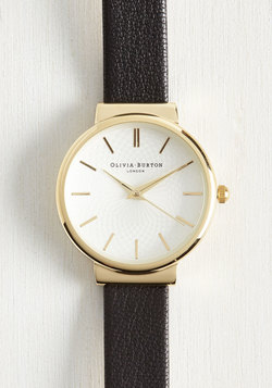 This Moment in Timeless Watch in Black & Gold - Midi