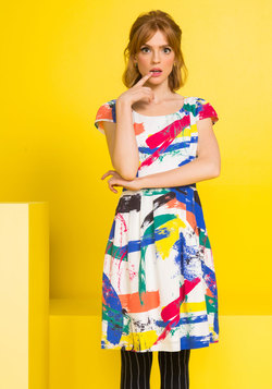 Made for Each Color Dress in Brushstrokes