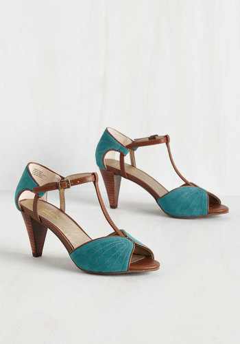 U-Turn Heel in Teal $94.99 AT vintagedancer.com