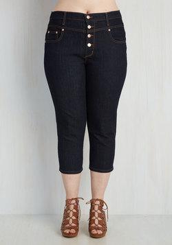 Karaoke Songstress Jeans in Capri Length - 1X-3X