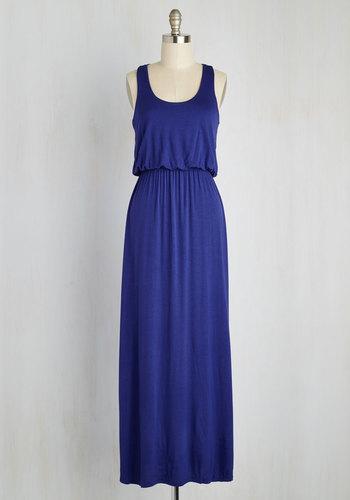 Breezy Night Stroll Dress in Blue