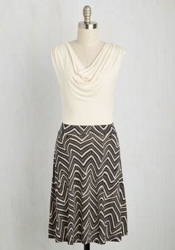 Pretty Packages Dress in Swirled Chevron