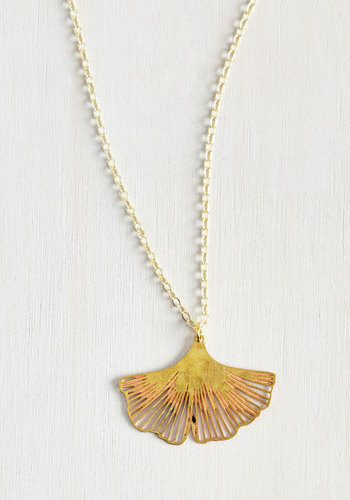 Ginkgo a Long Way Necklace