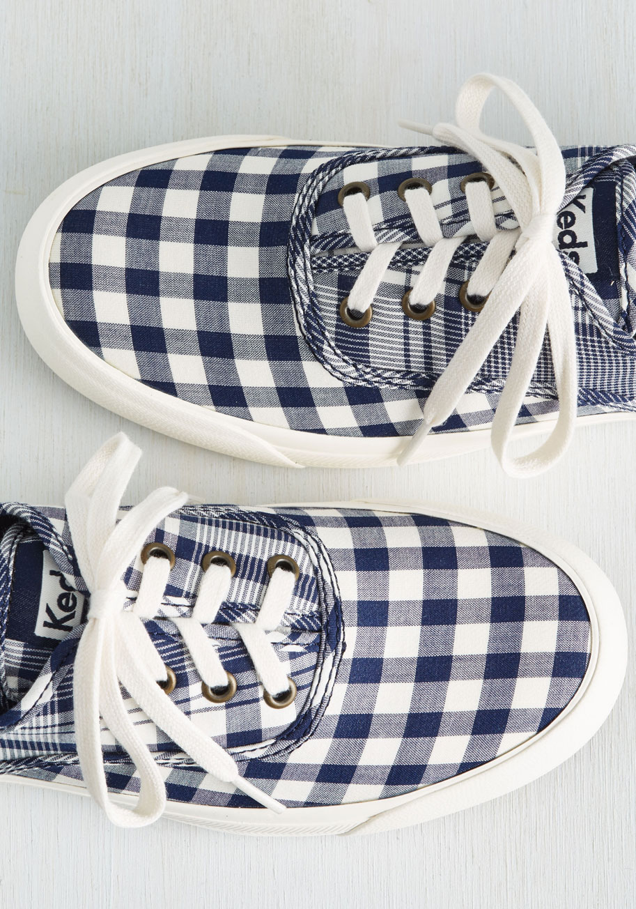 Cute gingham check sneakers