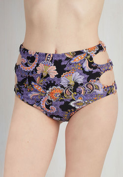 The Endless Stunner Swimsuit Bottom in Purple Paisley