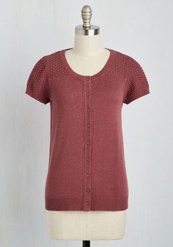 Leave Knit to Me Cardigan in Tuscan Red