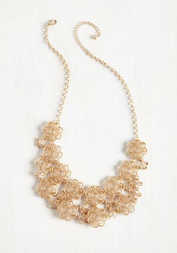 Gold Petal Recipient Necklace