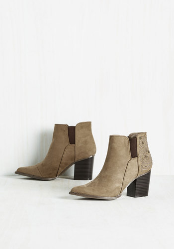 If I Ruled the Swirl Bootie in Taupe