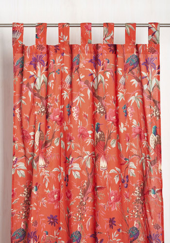 Chic Ecosystem Curtain By Karma Living   Red, Floral, Print, Better .