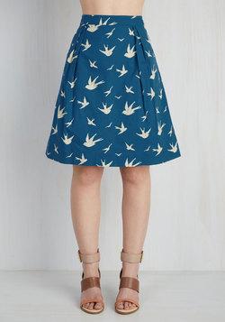 Trendsetting the Scene Skirt in Swallows
