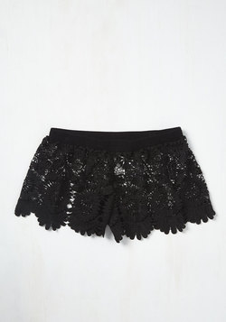 Pool One Over Cover-Up Shorts in Black