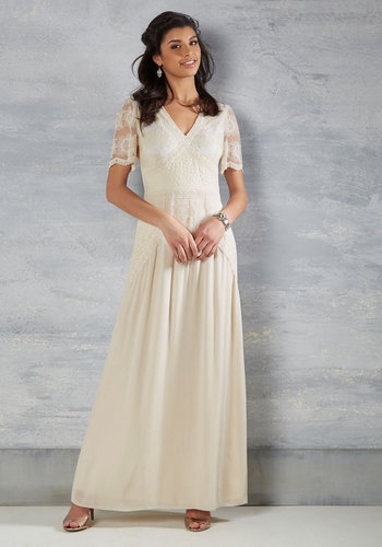 Right Here and Vow Dress in Ivory $250.00 AT vintagedancer.com