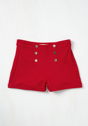 Play Gulf Shorts in Red $34.99 AT vintagedancer.com