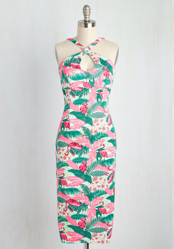 Mover and Holiday-Maker Dress in Flamingos $94.99 AT vintagedancer.com