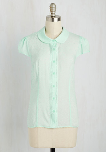 Library Study Sesh Top in Mint