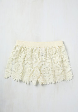 Pool One Over Cover-Up Shorts in Ivory