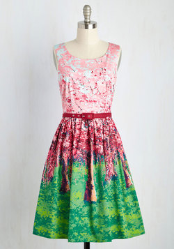 Festive Frondescence Dress in Spring
