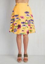 Profound Pizzazz Skirt in Golden Meadow
