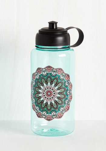 Hydrated and Mighty Water Bottle in Medallion