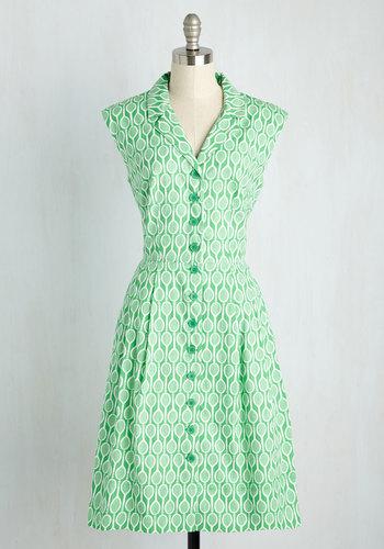 Bake Shop Browsing Dress in Tennis $109.99 AT vintagedancer.com