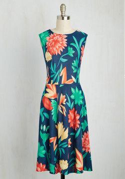 Everlasting Aloha Dress in Vibrant Blooms