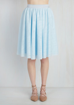 Tulle of the Trade Skirt in Powder Blue