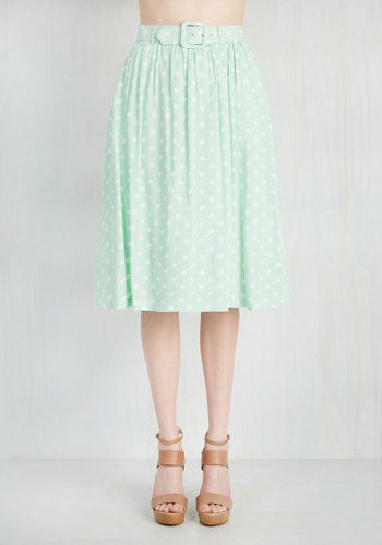Brio as You Are Skirt in Pistachio $54.99 AT vintagedancer.com