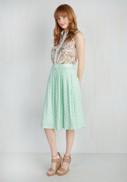Brio as You Are Skirt in Pistachio