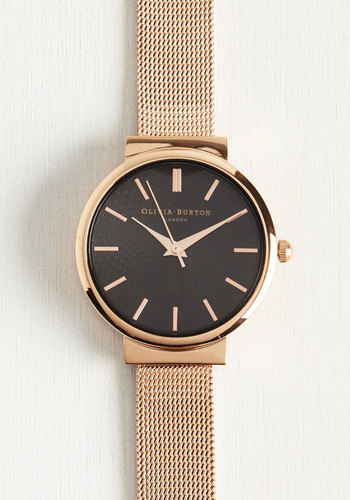 This Moment in Timeless Watch in Black Rose Gold - Midi