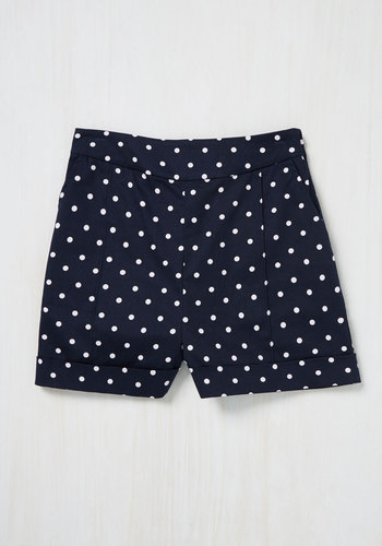 Dapper on Deck Shorts in Navy Dots