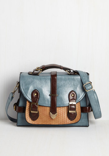 Authentically Academic Bag in Dusty Blue