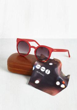 Haute and Bold Sunglasses in Crimson