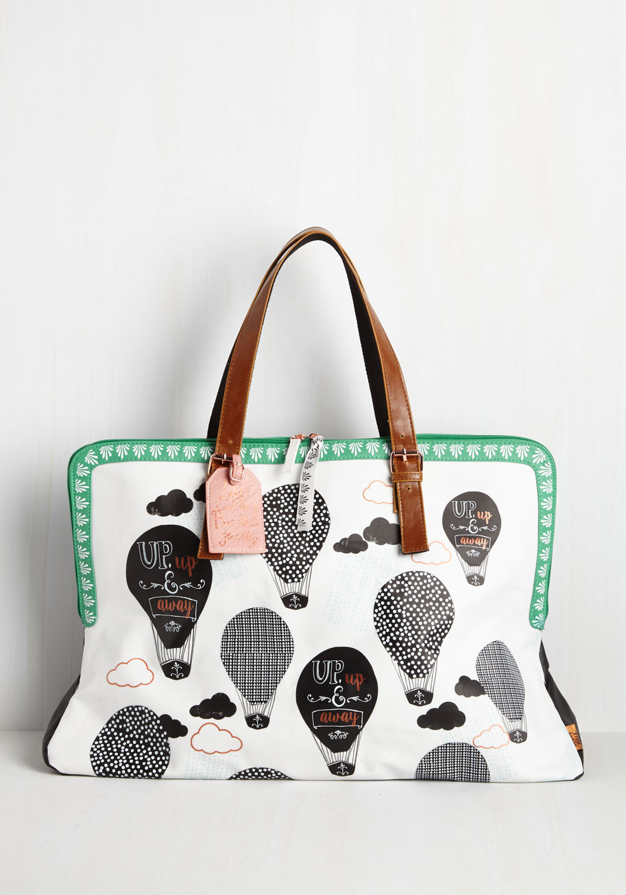hot air balloon print bag
