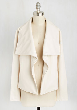 Drape It to the Limit Jacket in Ivory