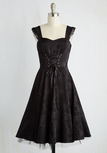 Moxie-turvy Dress in Noir $79.99 AT vintagedancer.com