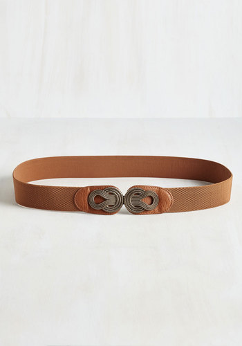 Boldly Buckled Belt in Cognac - Extended Size - Brown, Bronze, Party, Casual, Daytime Party, Boho, Vintage Inspired, Spring, Better, Neutral, Variation