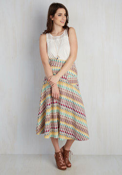 Next on Deck Skirt in Kaleidoscope