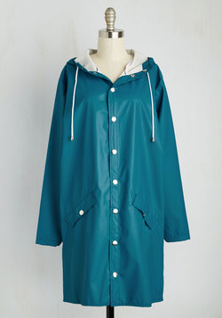 Ups and Downpours Rain Coat in Cerulean