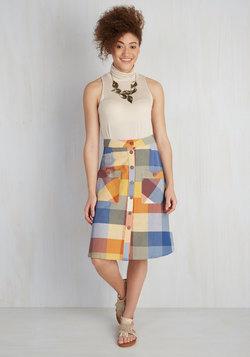 Swap Meet Sweetheart Skirt in Plaid