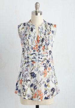 On Your Roam Time Tunic in Spring Blooms