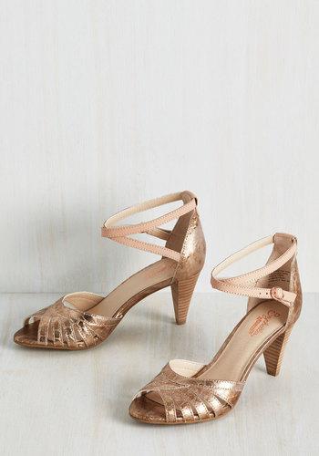 Scenic Heel in Rose Gold $99.99 AT vintagedancer.com