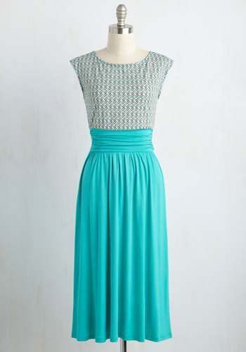 Close Colleague Dress in Turquoise