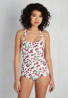 Fruity Suity One-Piece Swimsuit in White