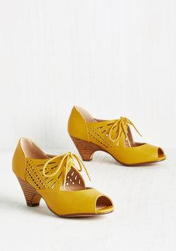 Dancey Drew Heel in Saffron